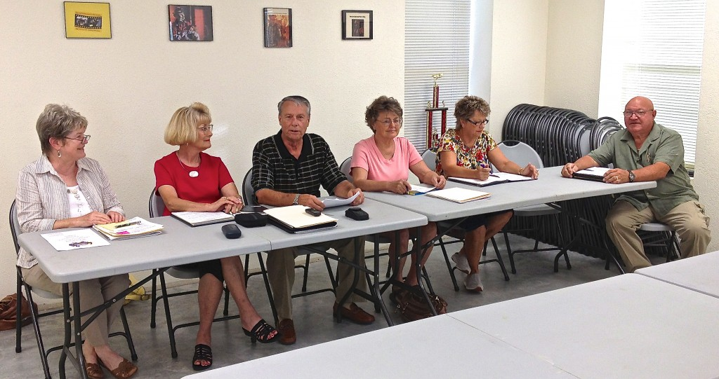 This photo is from the June 11 meeting. L-R is Susan Garry, Barbara Piper, Jack Piper, Karen Marosko, Susan Schmidt, and Eldridge Tidwell.