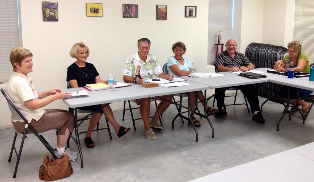 L-R: Susan Garry, Barbara Piper, Jack Piper, Karen Marosko, Eldridge Tidwell, Susan Schmidt (September 12, 2013)