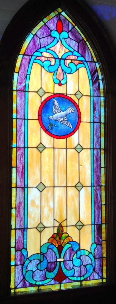 Window art in the sanctuary.