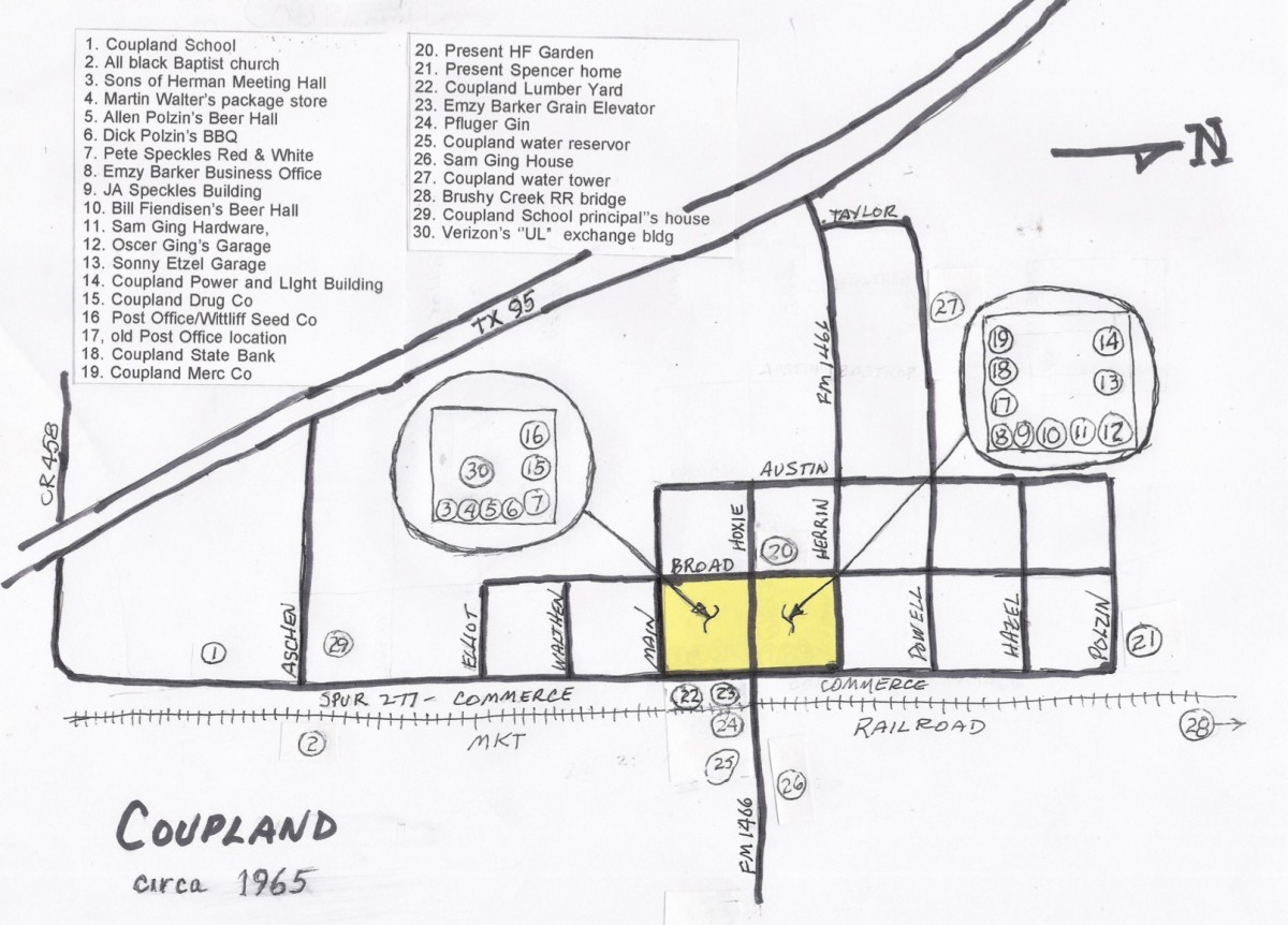 1965 Coupland  sketch map